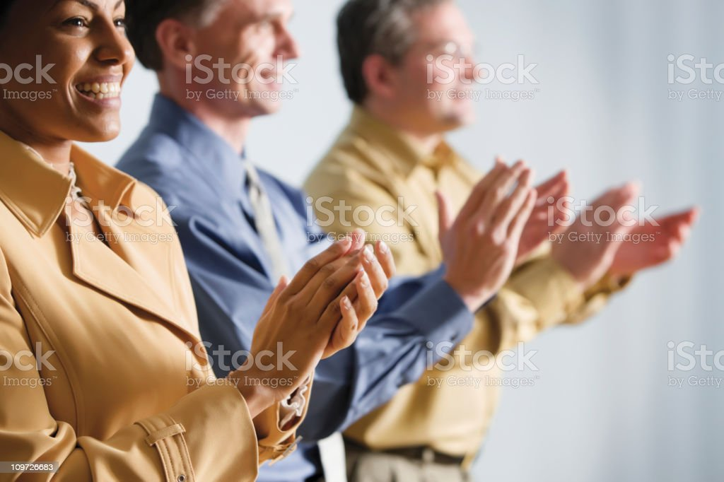 Business People Clapping. Horizontal shot.