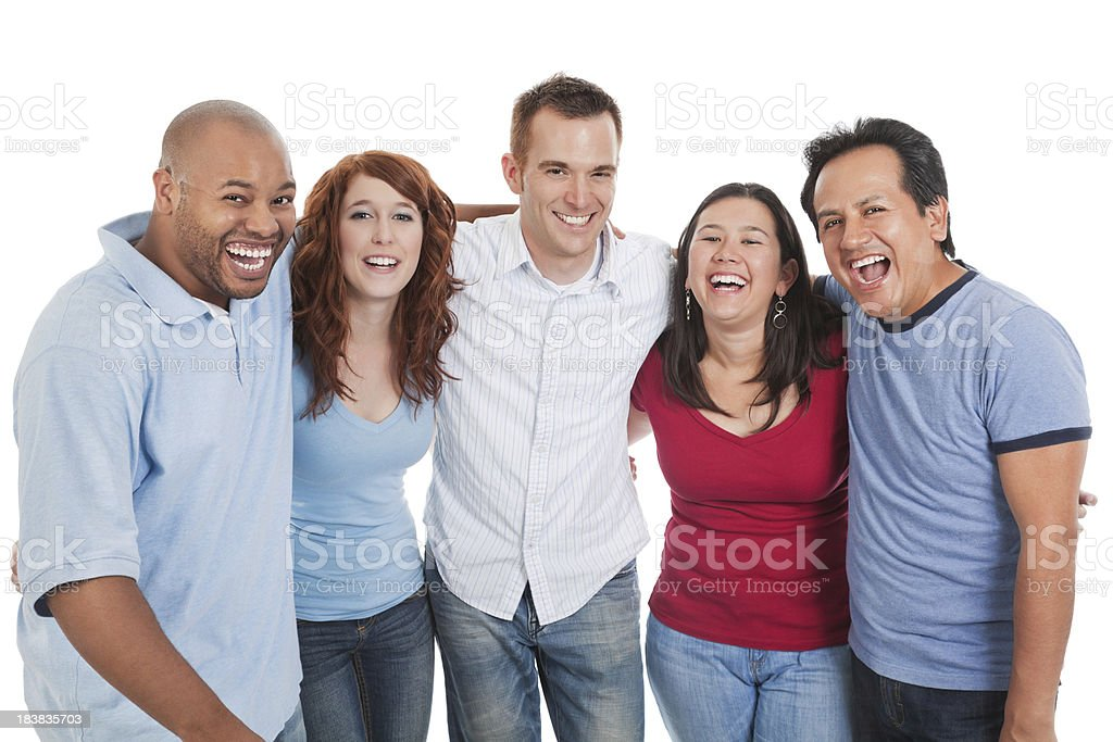Small Group of Diverse Adults Laughing royalty-free stock photo