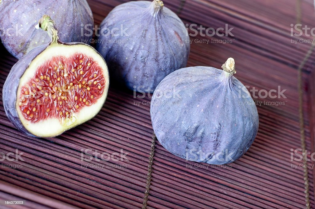 Small Group of Fresh Figs stock photo