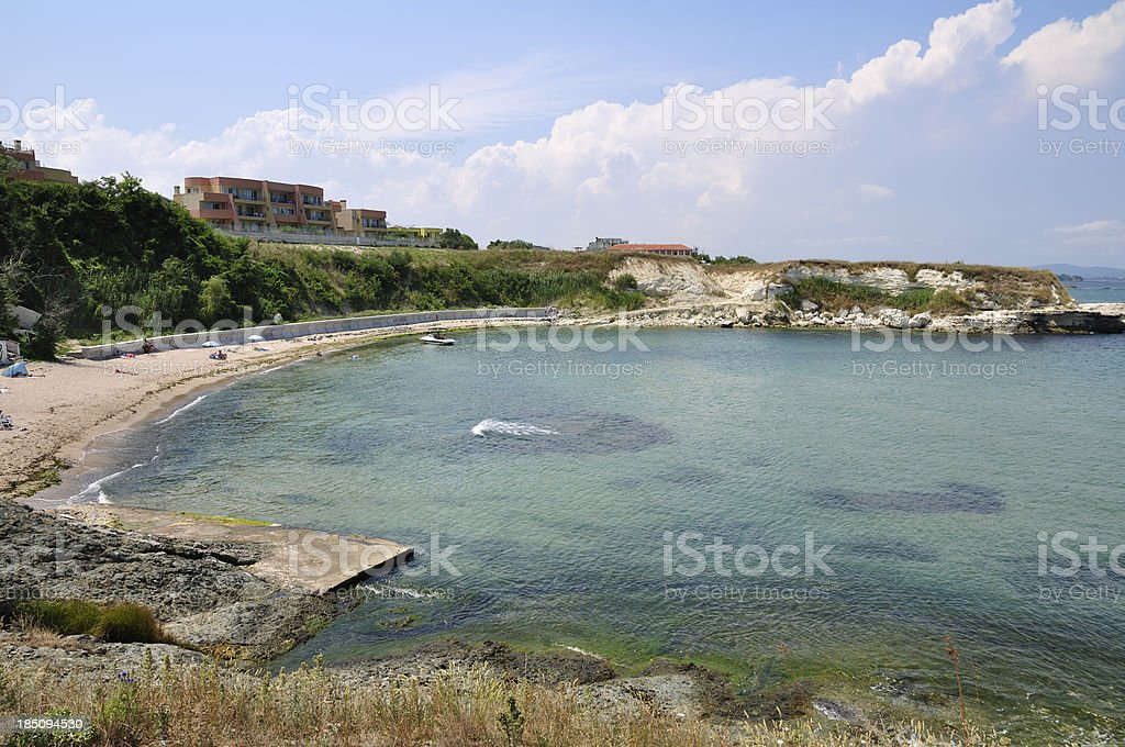 Small gulf and beach near Lozenets, Black sea, Bulgaria stock photo