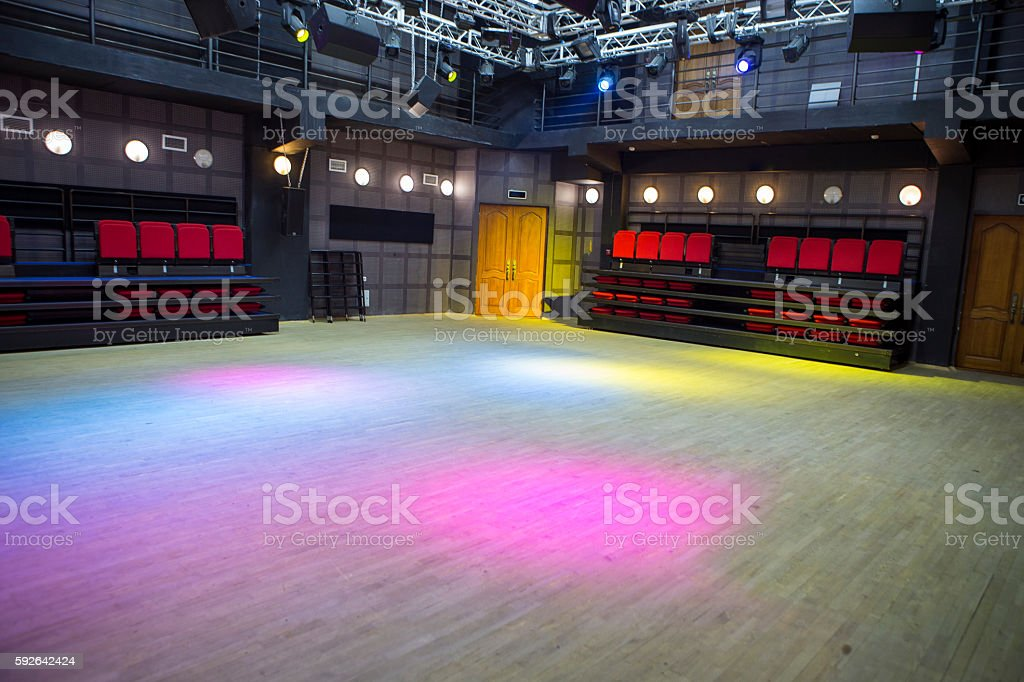 Small Hall of chamber theater scene stock photo