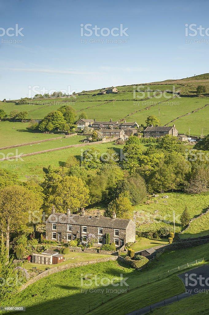 small hamlet yorkshire royalty-free stock photo