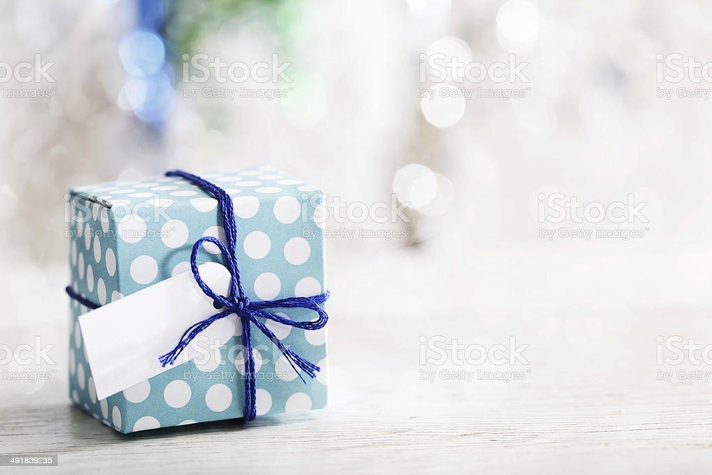 Small handmade gift box stock photo