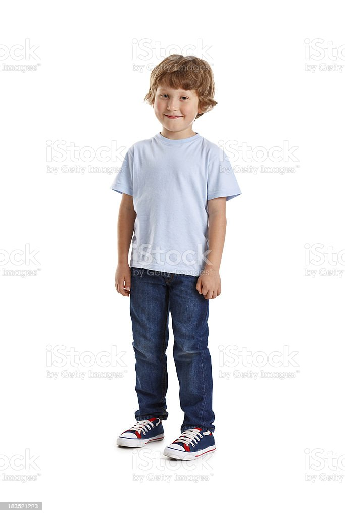 small happy boy stock photo
