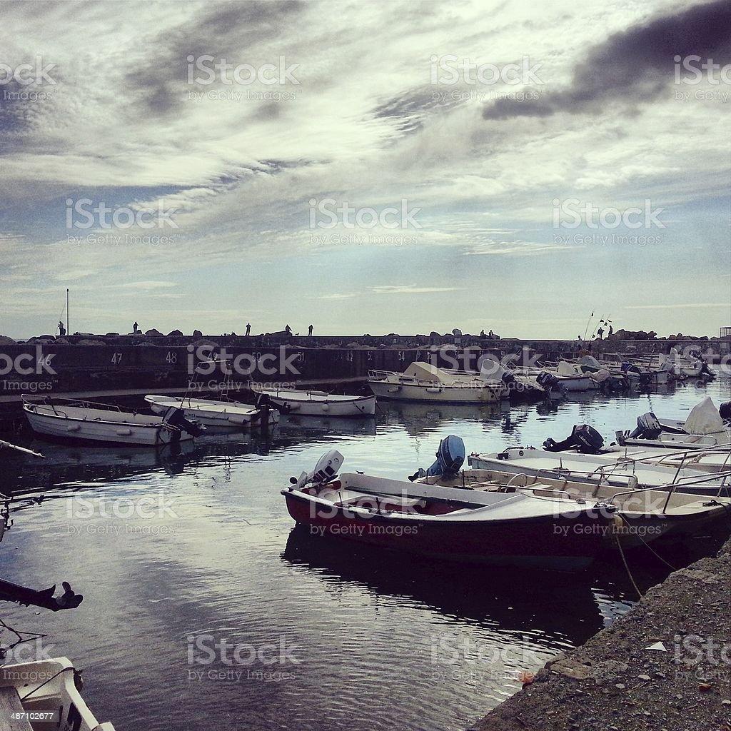 Small harbor in Tuscany, Italy - MobileStock stock photo