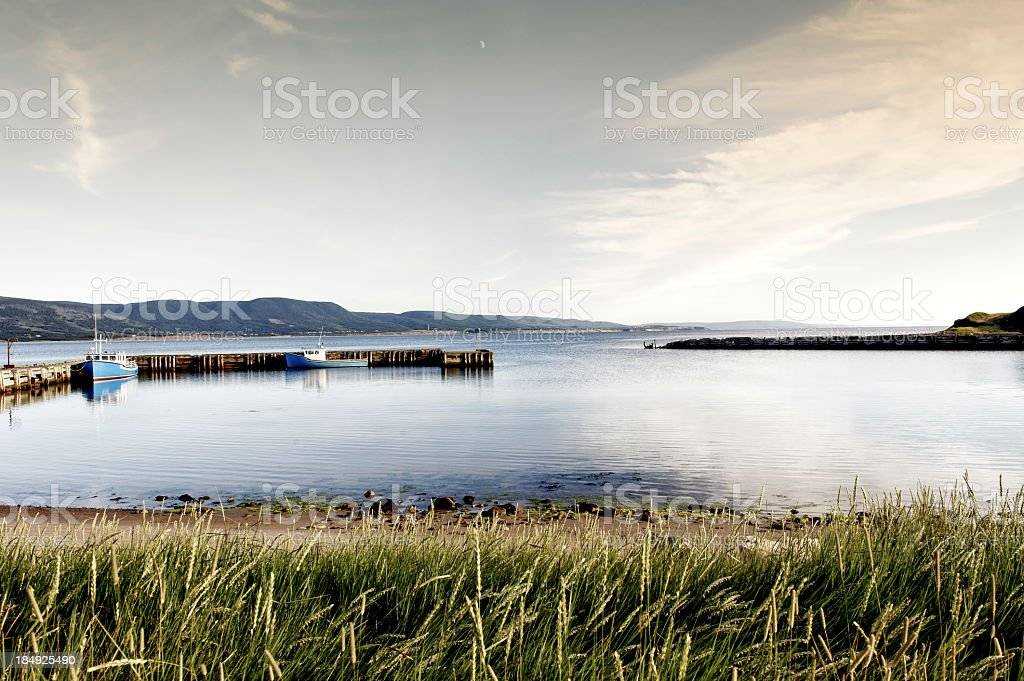 Small  harbour in Chéticamp, Cape Breton Island,Nova Scotia,Canada stock photo