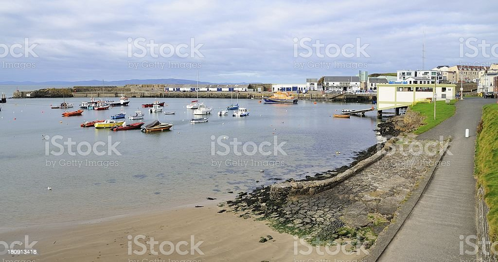 Small harbourt in the city stock photo