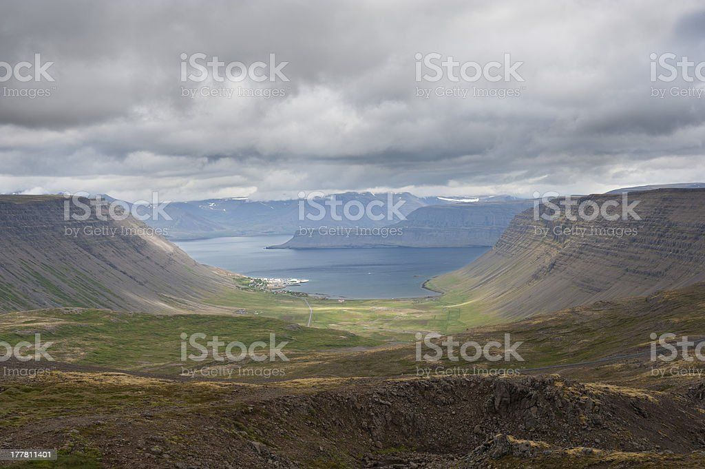 Small harbour-village in Icelands Westfjords royalty-free stock photo