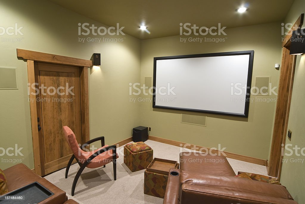 Small home theater room royalty-free stock photo
