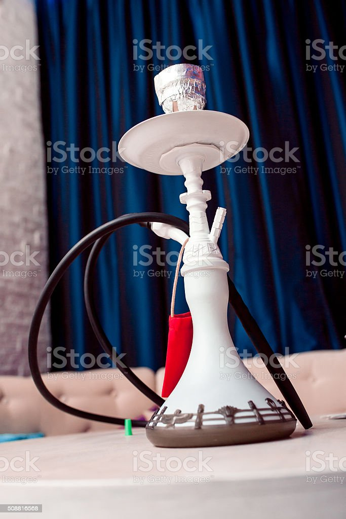 small hookah pipe, also known as a shisha stock photo