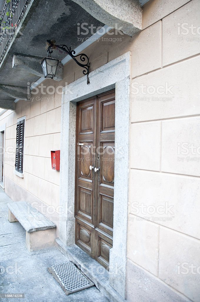 Small House and wooden door royalty-free stock photo