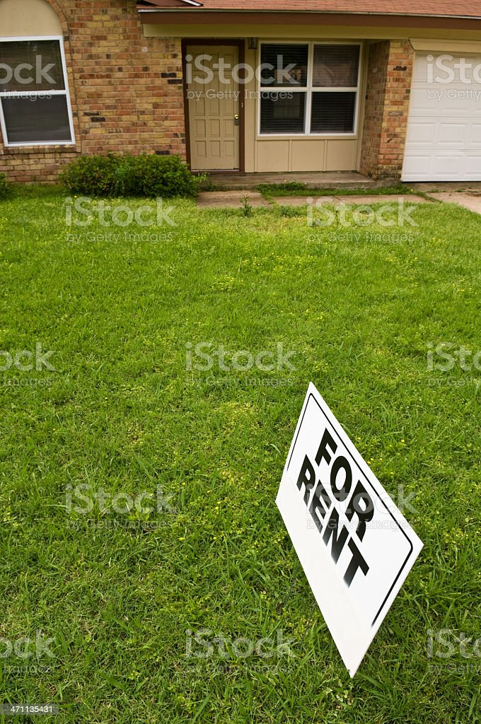 Small House for Rent stock photo