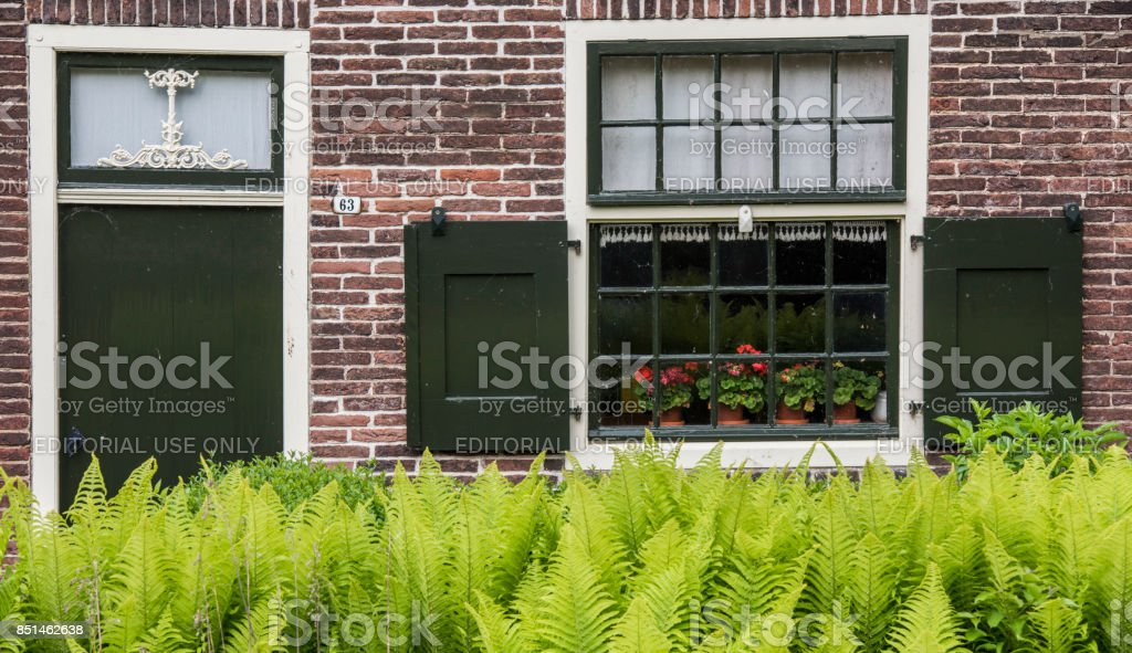 Small House with Shutters Giethoorn stock photo