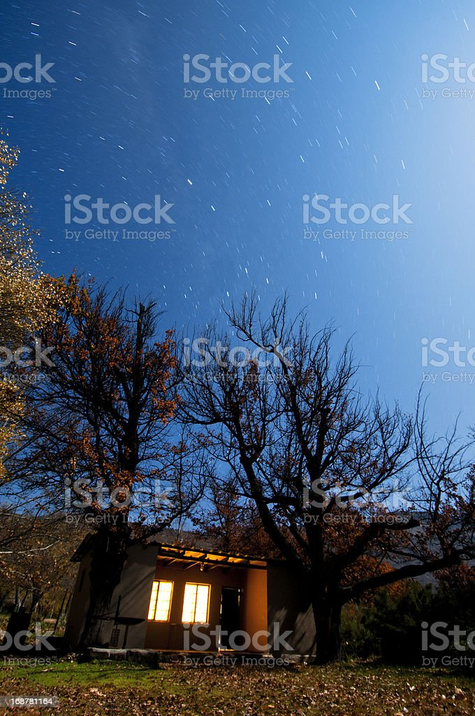 Small house with stars royalty-free stock photo