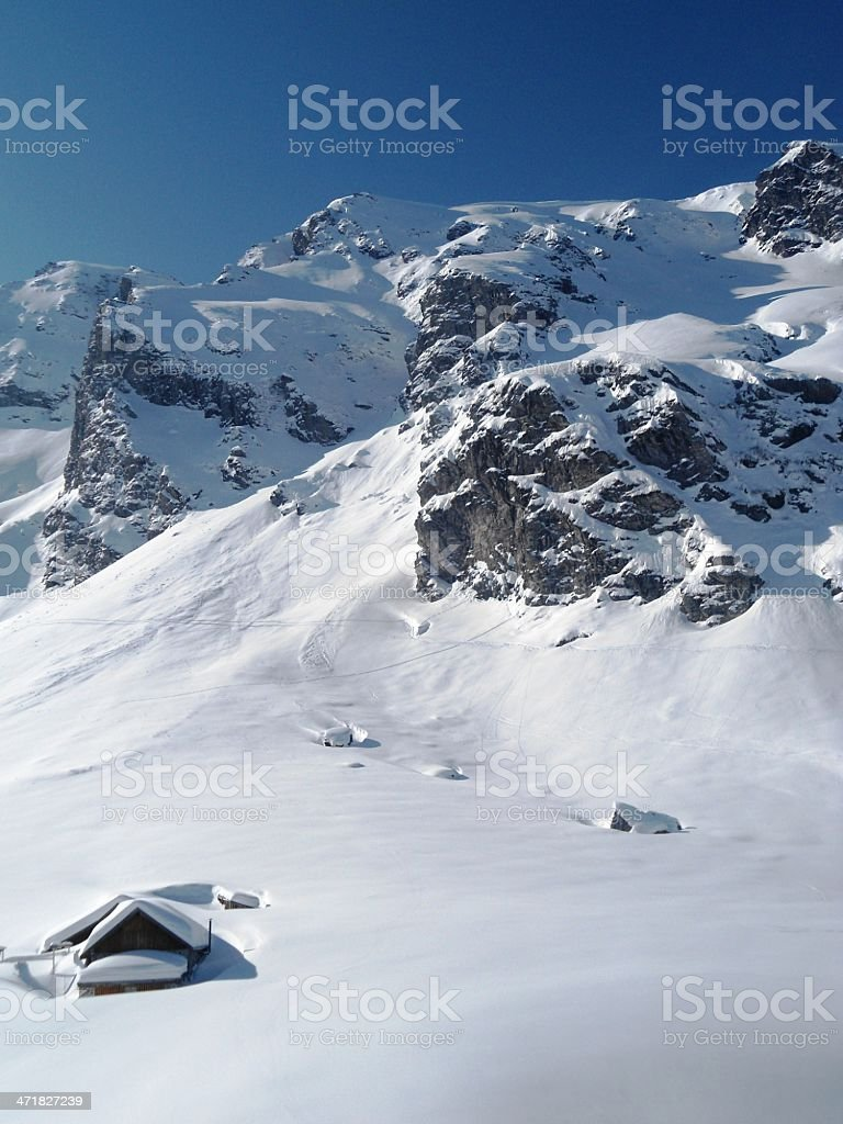 Small Hut Almost Buried in Snow royalty-free stock photo