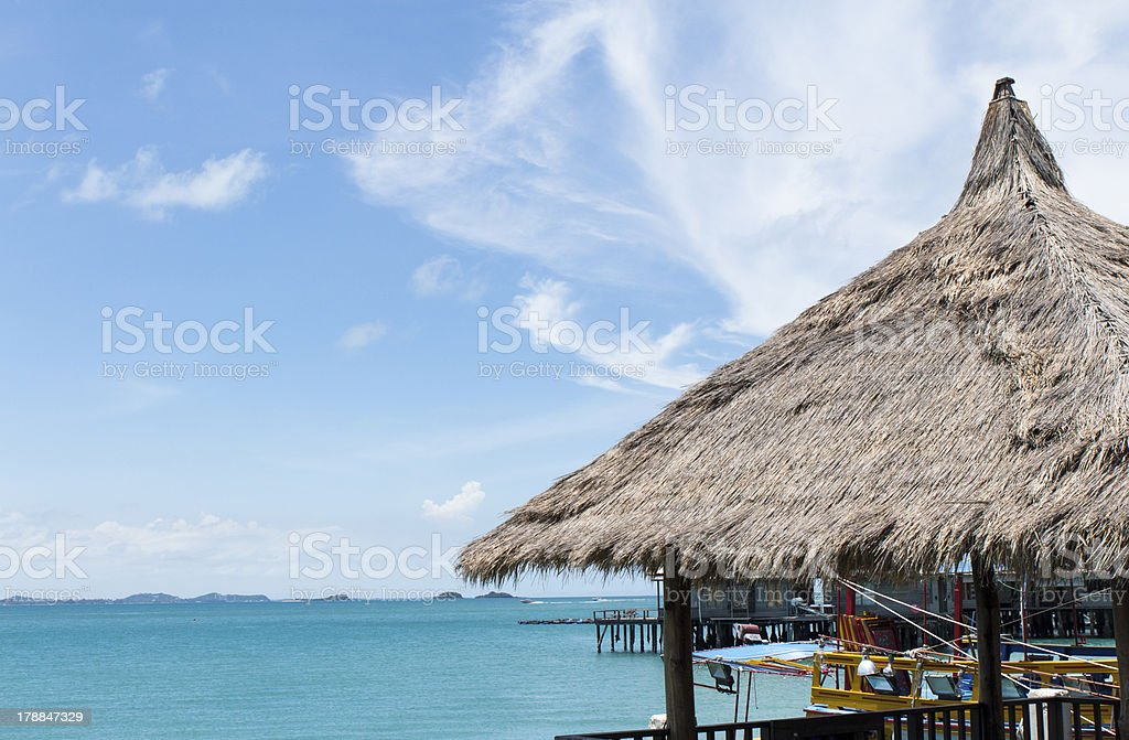 Small hut and nice blue sky royalty-free stock photo