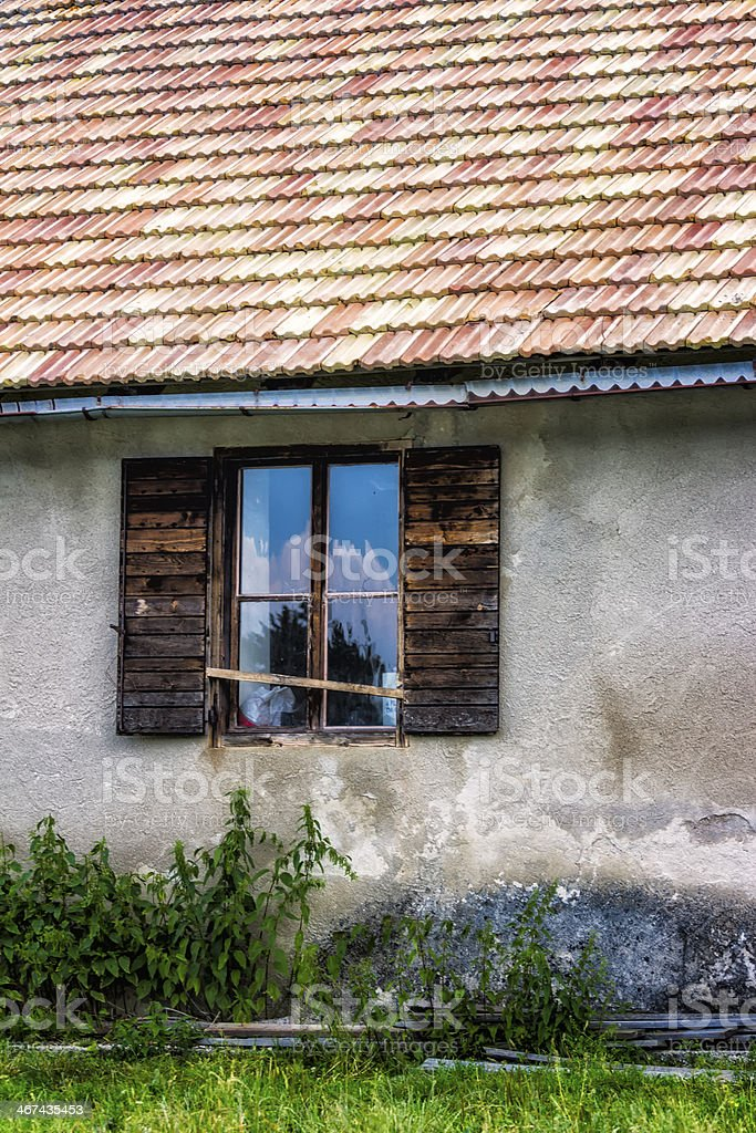 Small Hut in the Italian Alps, Summer stock photo