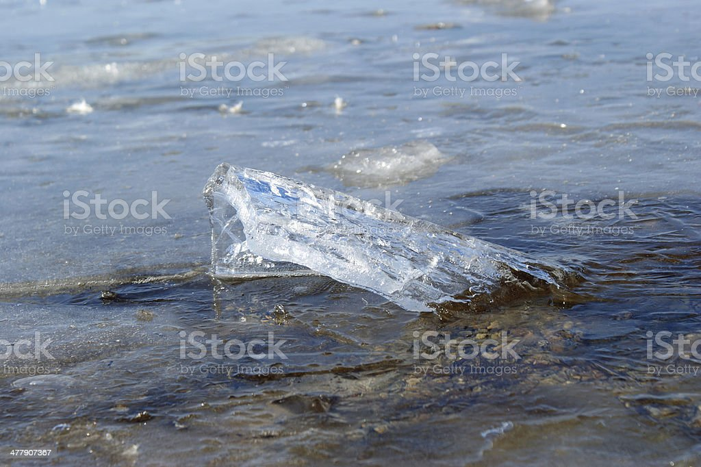 small ice floe royalty-free stock photo