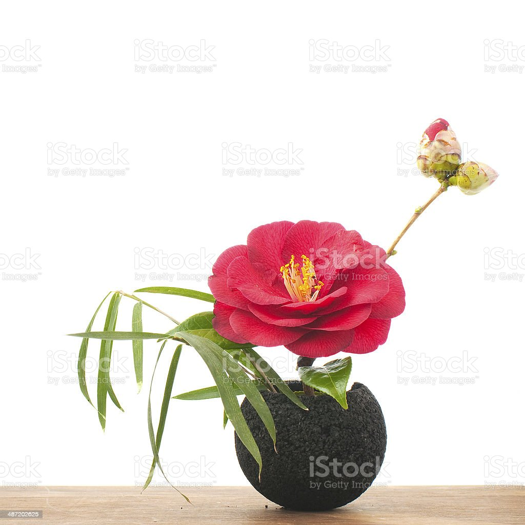small ikebana stock photo