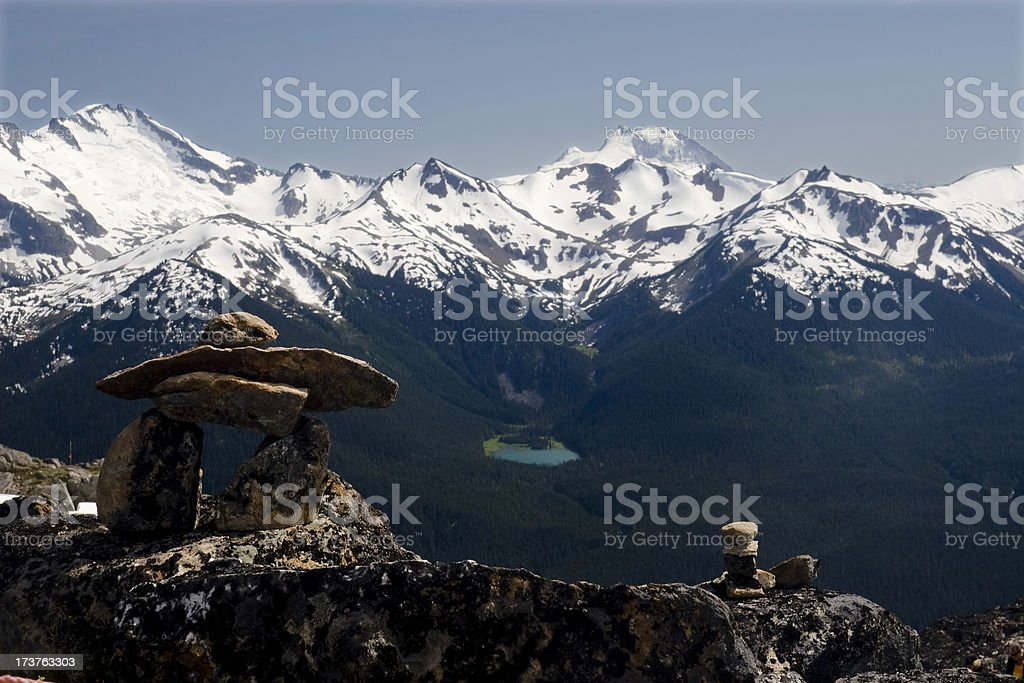 Small Inukshuk royalty-free stock photo