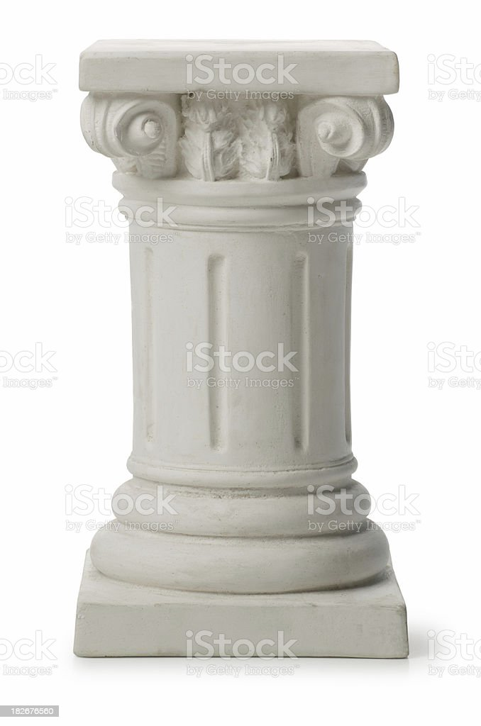 Small Ionic Greek Column or Pedestal stock photo