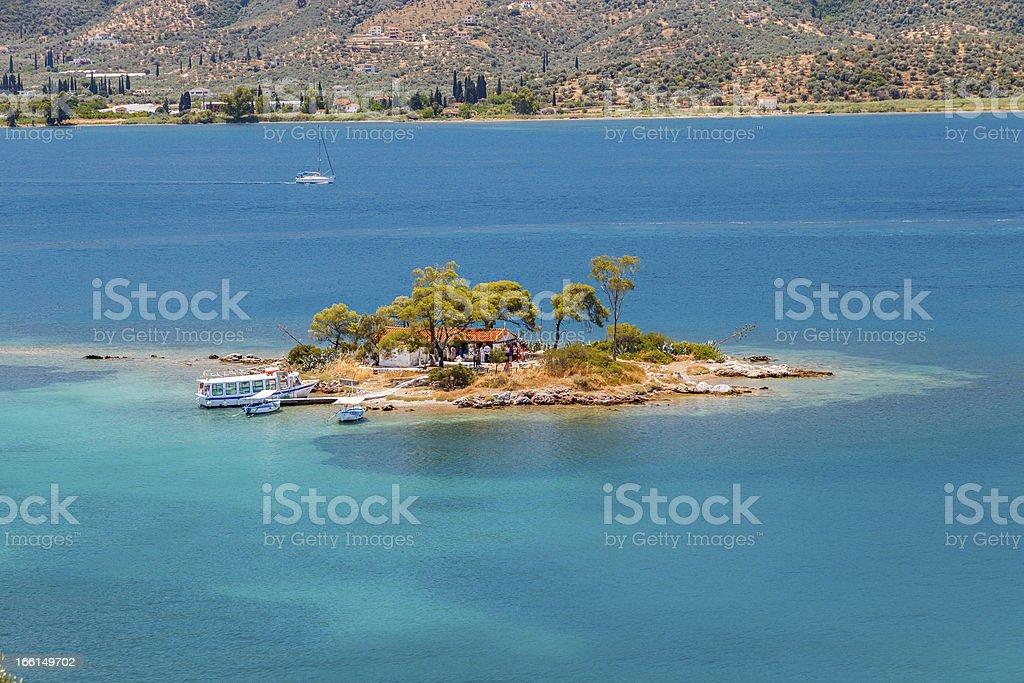 Small island, Greece royalty-free stock photo