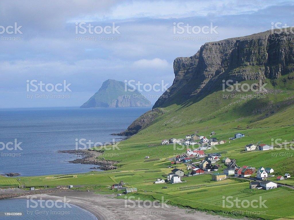Small island - island life stock photo