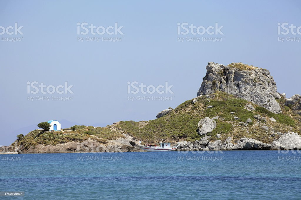 small island Kastri near Kos, Greece royalty-free stock photo