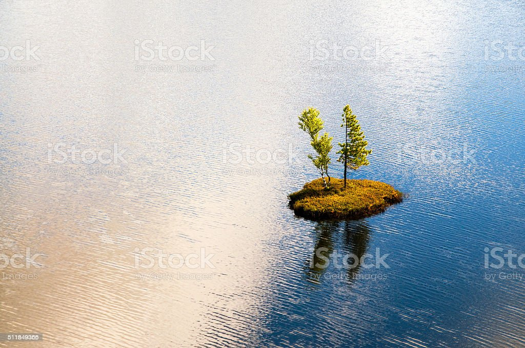Small island. stock photo