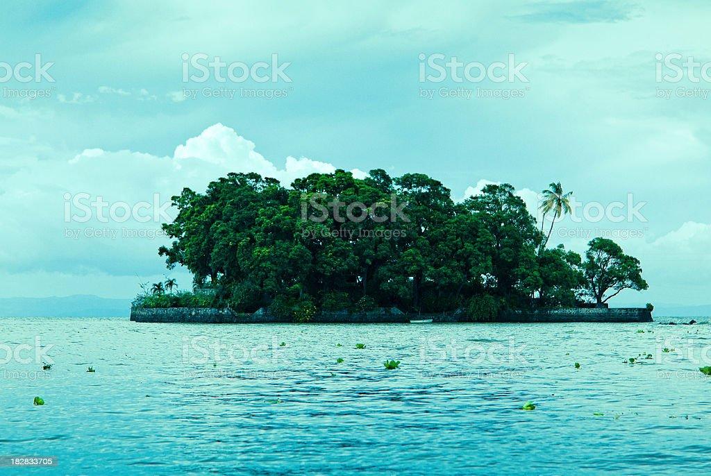small islet lake nicaragua stock photo