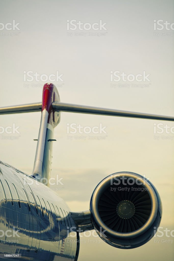 Small Jet Plane (Cross-Processed) stock photo