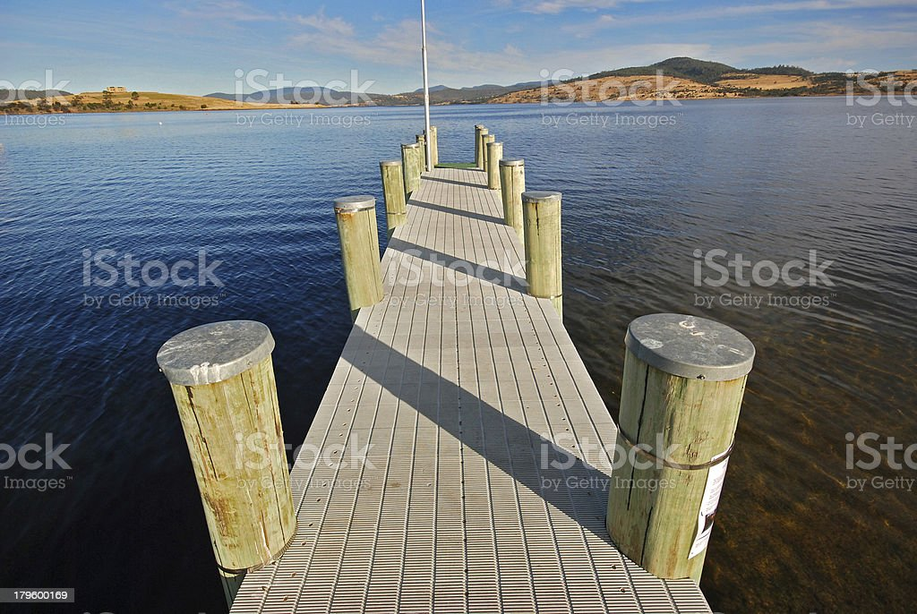 small jetty in Australia royalty-free stock photo