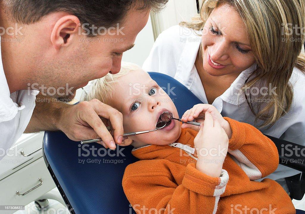 Small kid at the dentist's surgery royalty-free stock photo