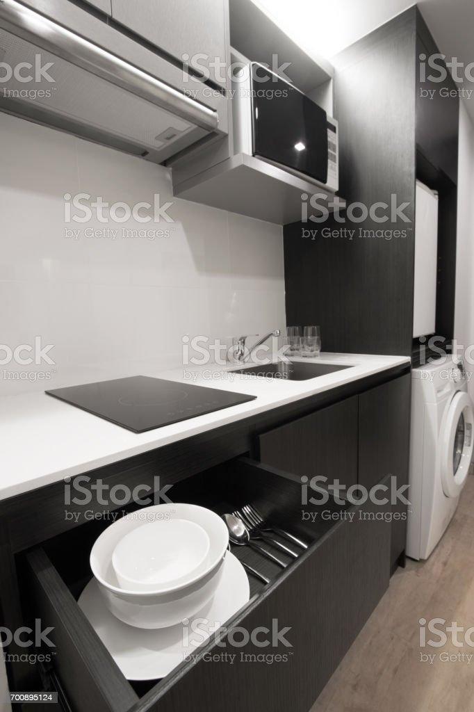 small kitchen stock photo