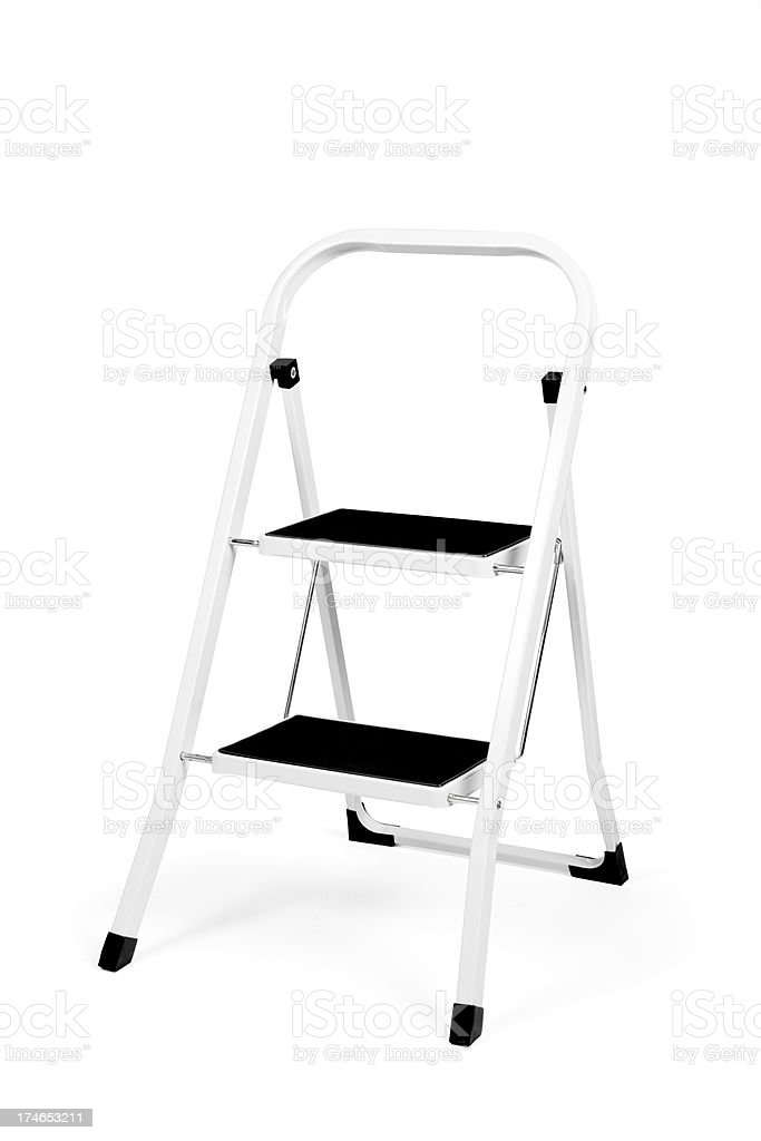 Small ladder (clipping path) stock photo