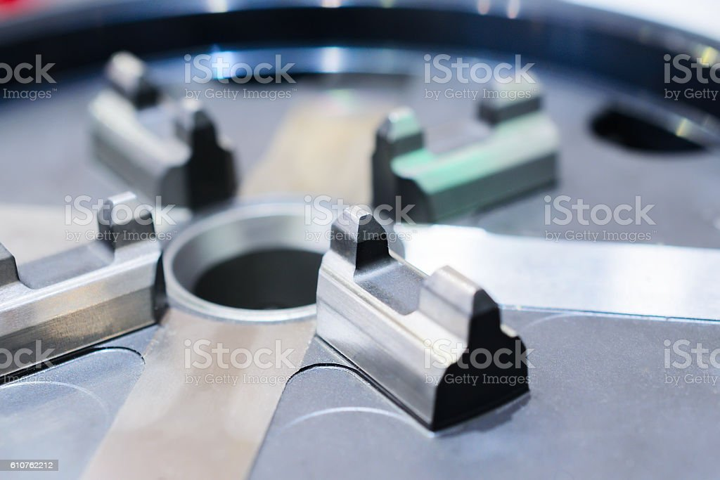 Small lathe chuck for lightweight components. stock photo