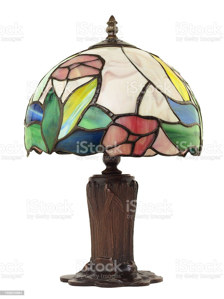 Small Leaded Glass Lamp stock photo
