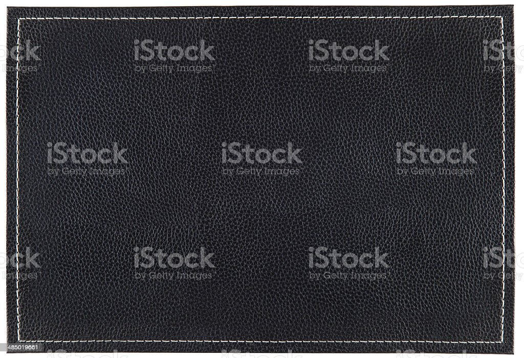 Small Leather background with stitches stock photo