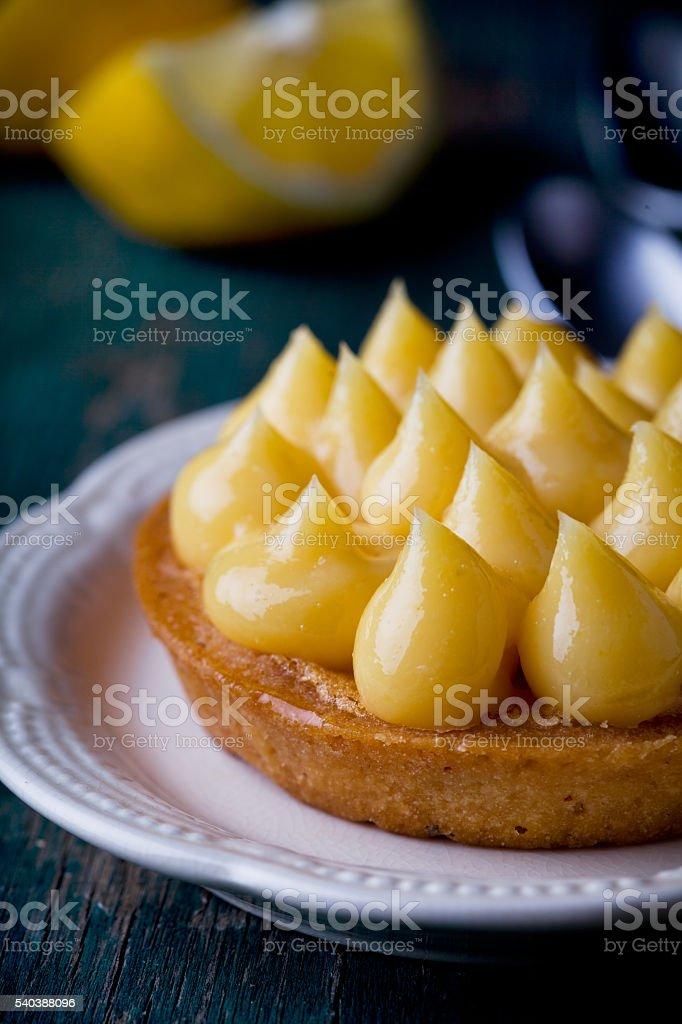 Small Lemon Pie stock photo