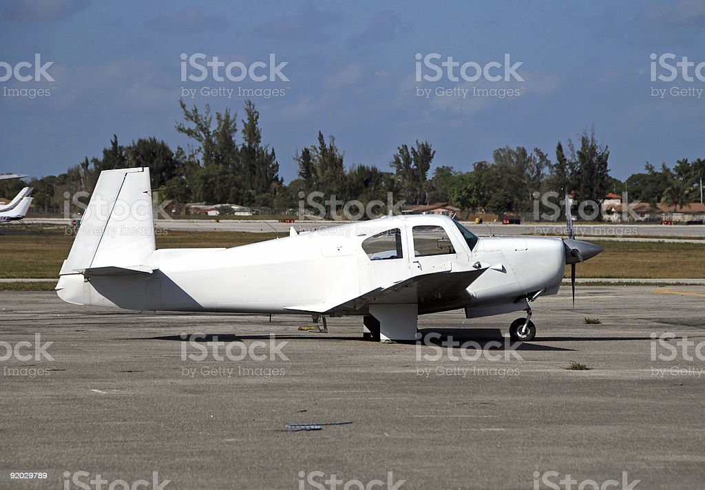 Small light airplane royalty-free stock photo