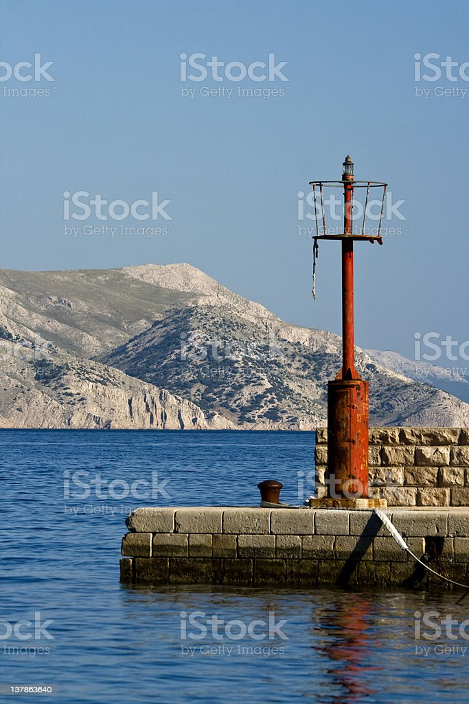 Small lighthouse in Lukovo royalty-free stock photo