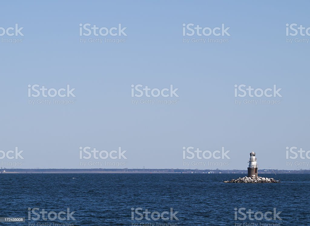Small lighthouse royalty-free stock photo