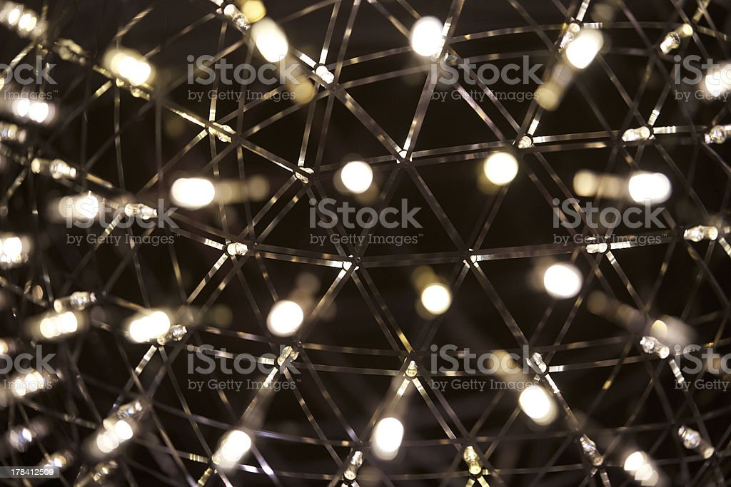 small lights of a lamp with bokeh stock photo