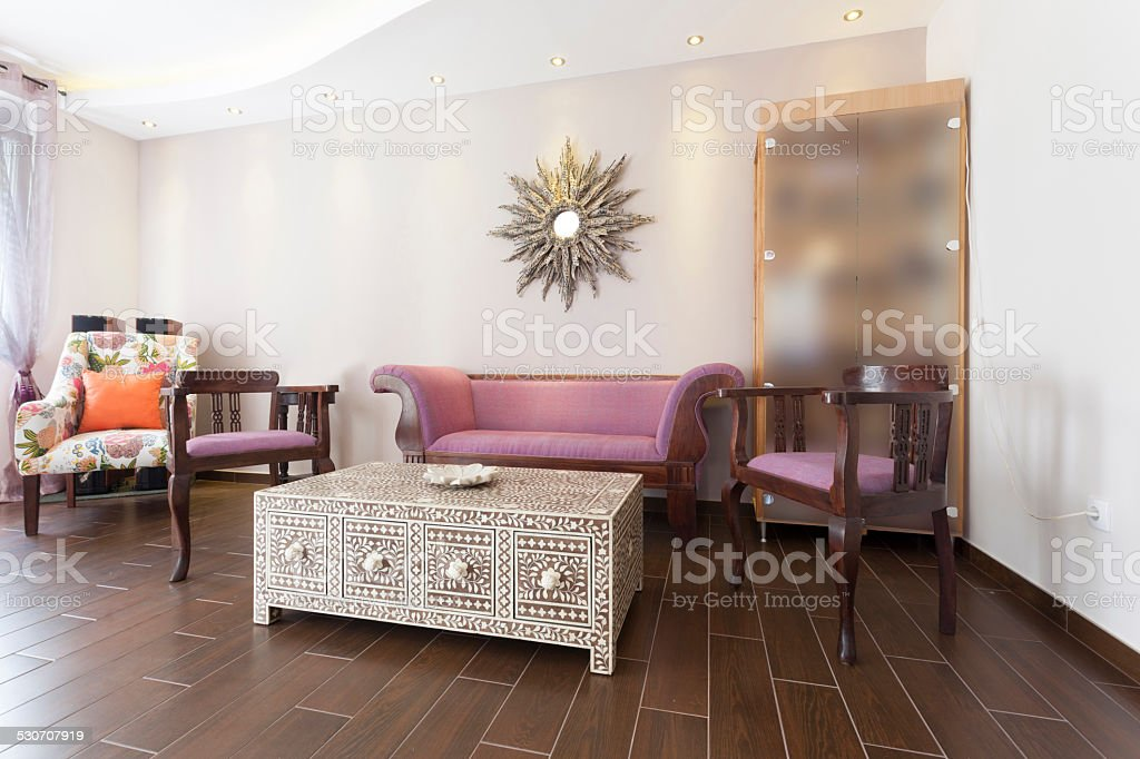 Small lobby in building stock photo