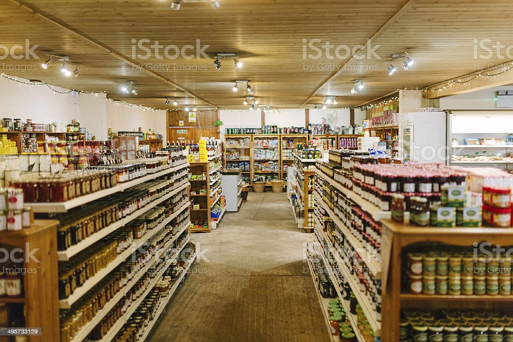 Small local supermarket stock photo