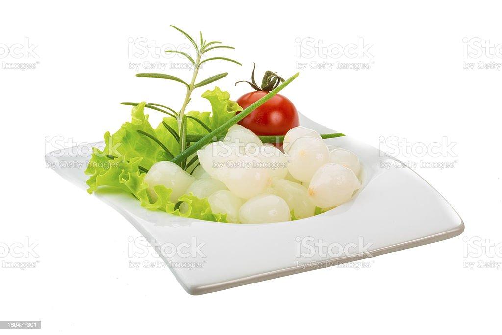 Small marinated onion royalty-free stock photo