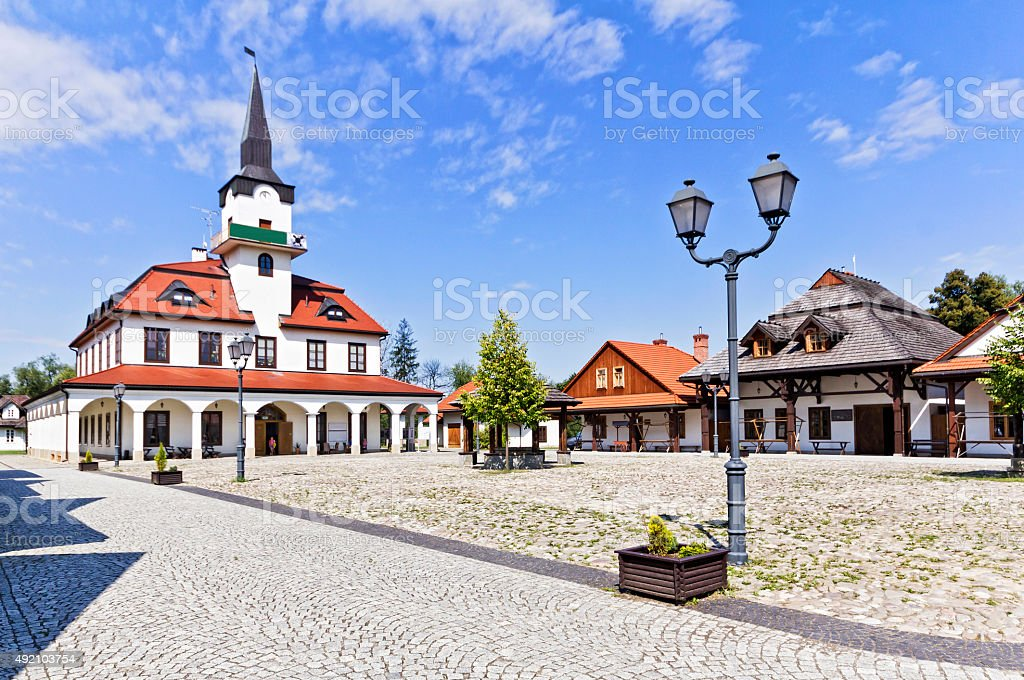 Small market square stock photo