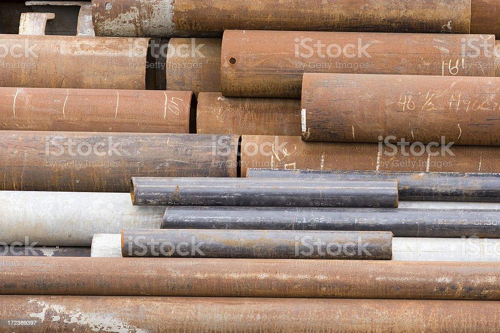 Small, medium, large pipes royalty-free stock photo