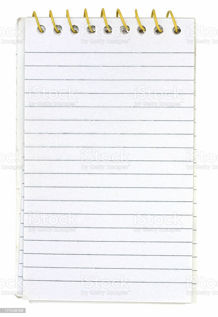 Small Memo Notepad stock photo