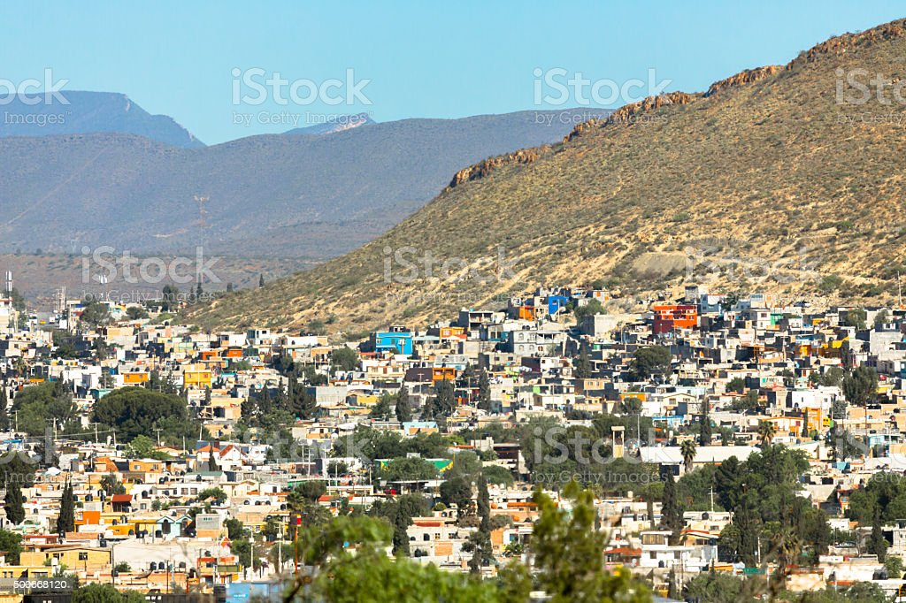 Small Mexican Town stock photo